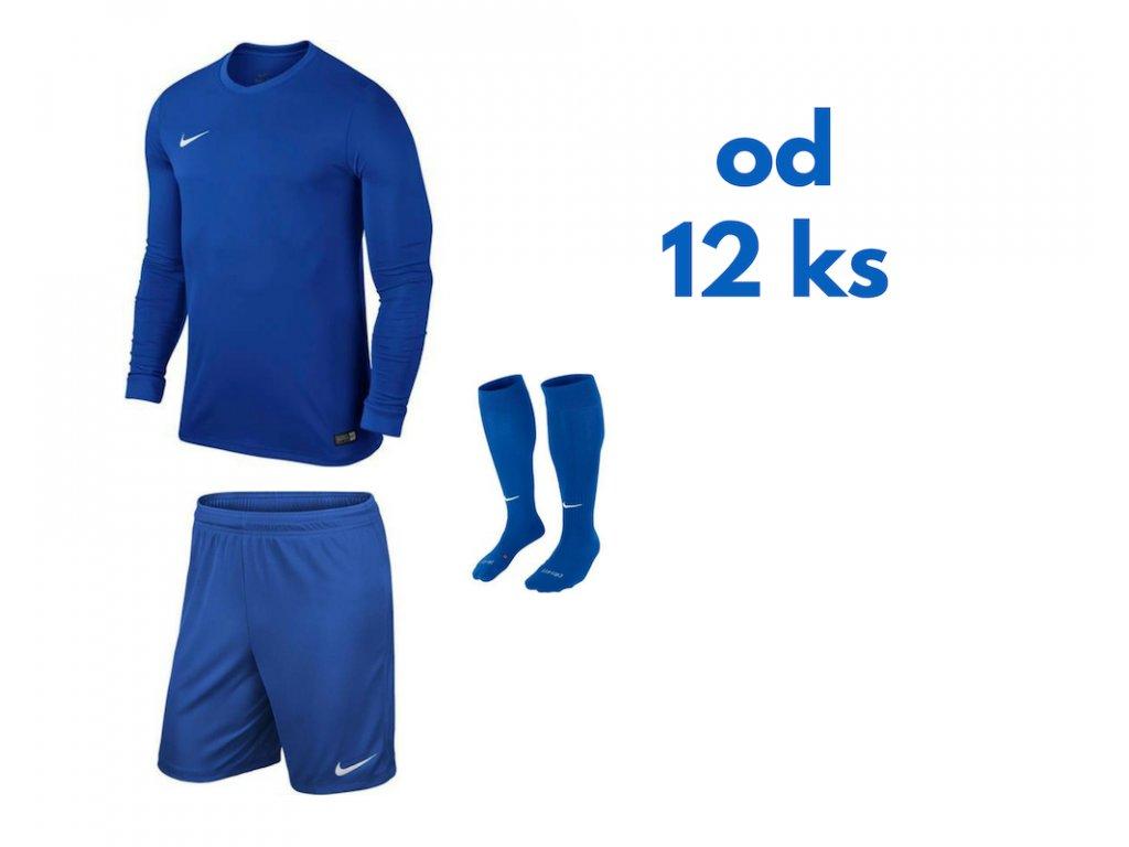 Futbalová sada Nike Park VI s dlhým rukávom pre celé mužstvo, od 12 ks, kráľovská modrá
