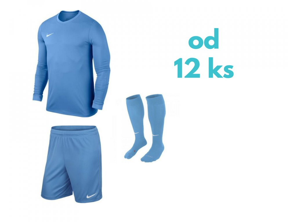 Futbalová sada Nike Park VI s dlhým rukávom pre celé mužstvo, od 12 ks, svetlomodrá