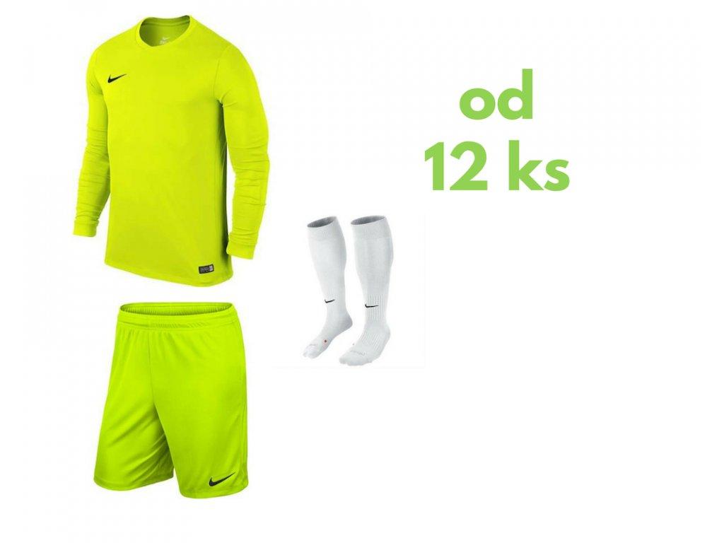 Futbalová sada Nike Park VI s dlhým rukávom pre celé mužstvo, od 12 ks, jasná žltá