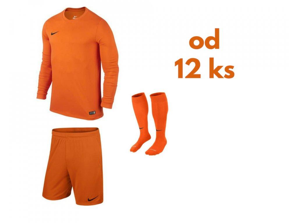 Futbalová sada Nike Park VI s dlhým rukávom pre celé mužstvo, od 12 ks, oranžová