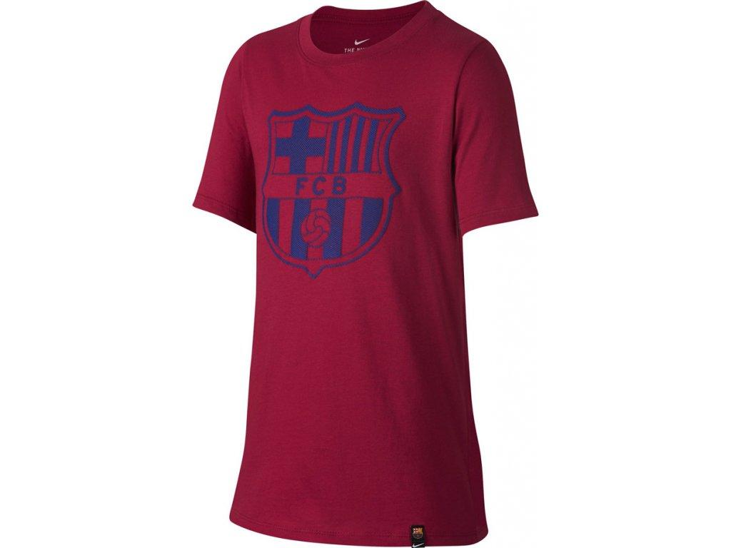 Detské tričko NIKE FC Barcelona B NK CREST JR bordové 859192 620