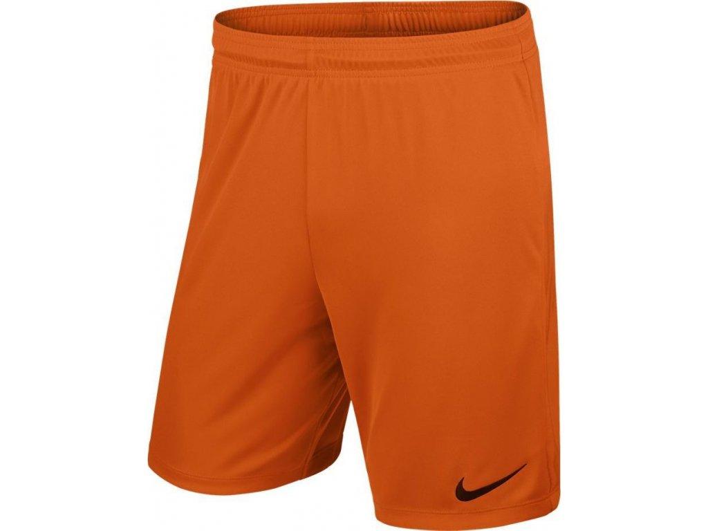 Detské šortky Nike Park II Knit Short NB JUNIOR oranžové 725988 815
