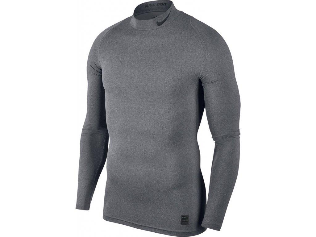 Termo tričko Nike Pro Cool Compression Mock LS šedé 838079 091