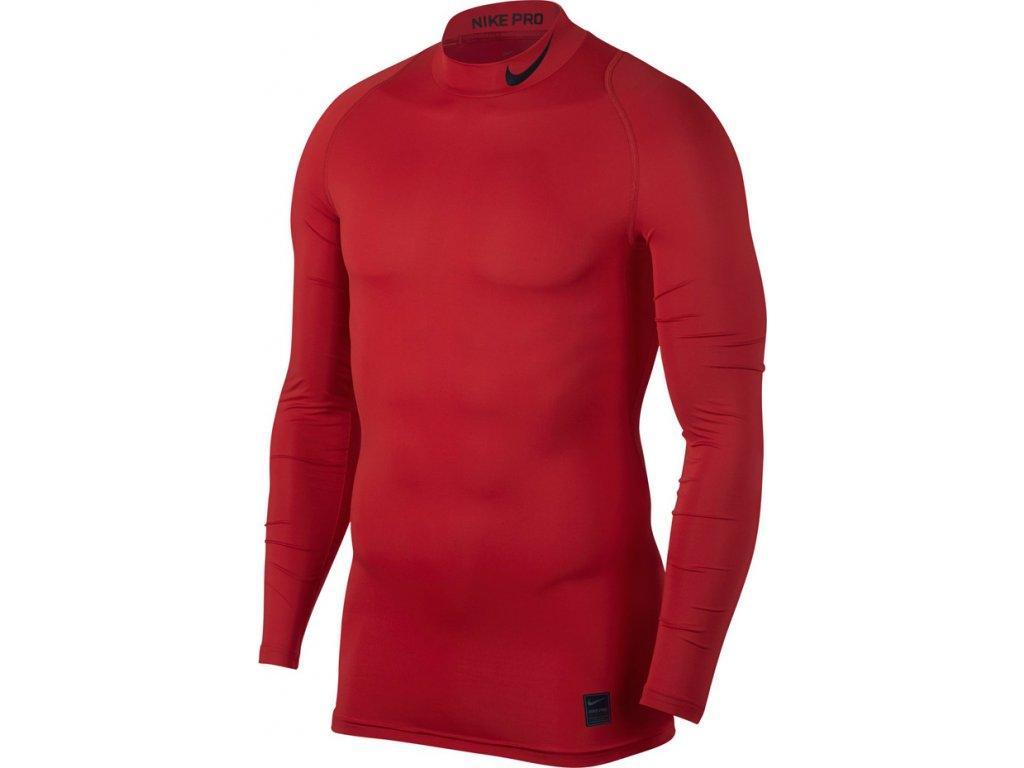 Termo tričko Nike Pro Cool Compression Mock LS červené 838079 657