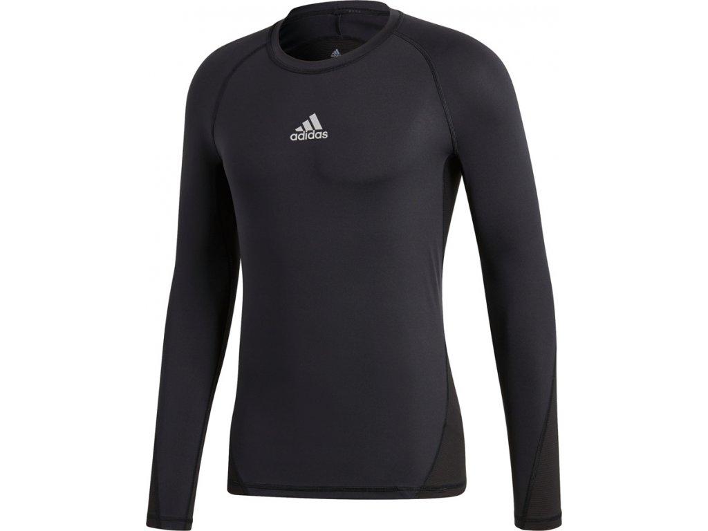 Dres adidas Alphaskin Sport LS Tee čierny CW9486