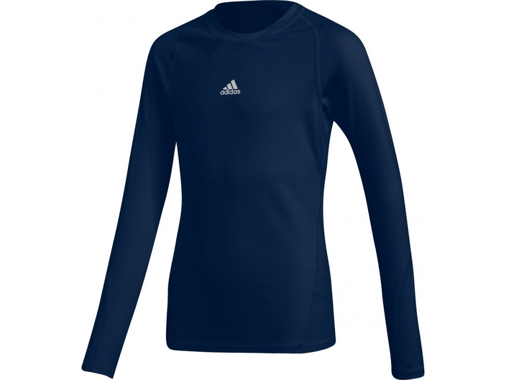 Detský dres adidas Alphaskin Sport LS Tee Junior tmavomodrý CW7322