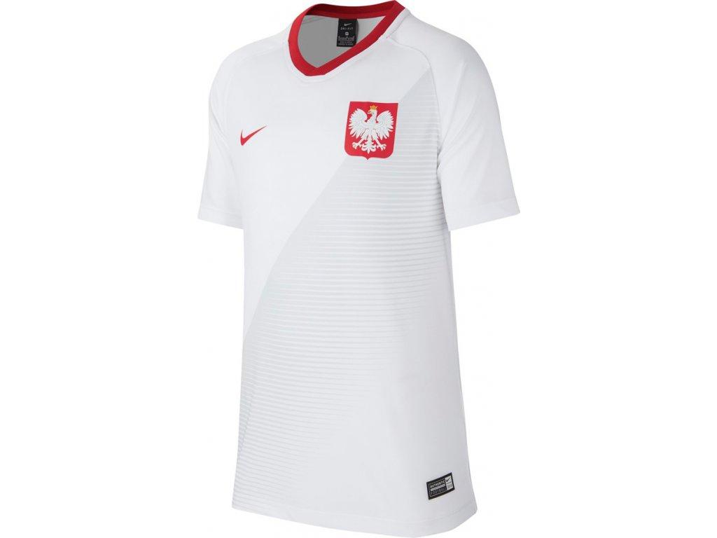 Detský dres Nike POLSKA NK BRT FTBL TOP SS HM JUNIOR biely 894013 100