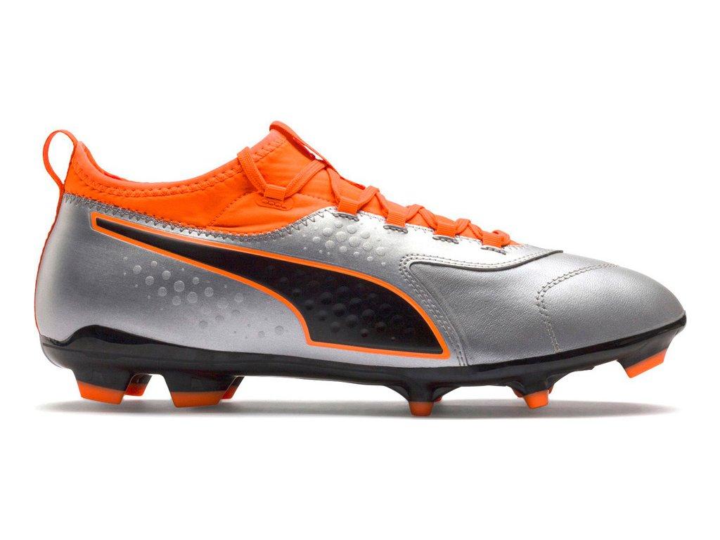 Futbalové kopačky Puma One 3 Lth FG Silver-Shock 104743 01