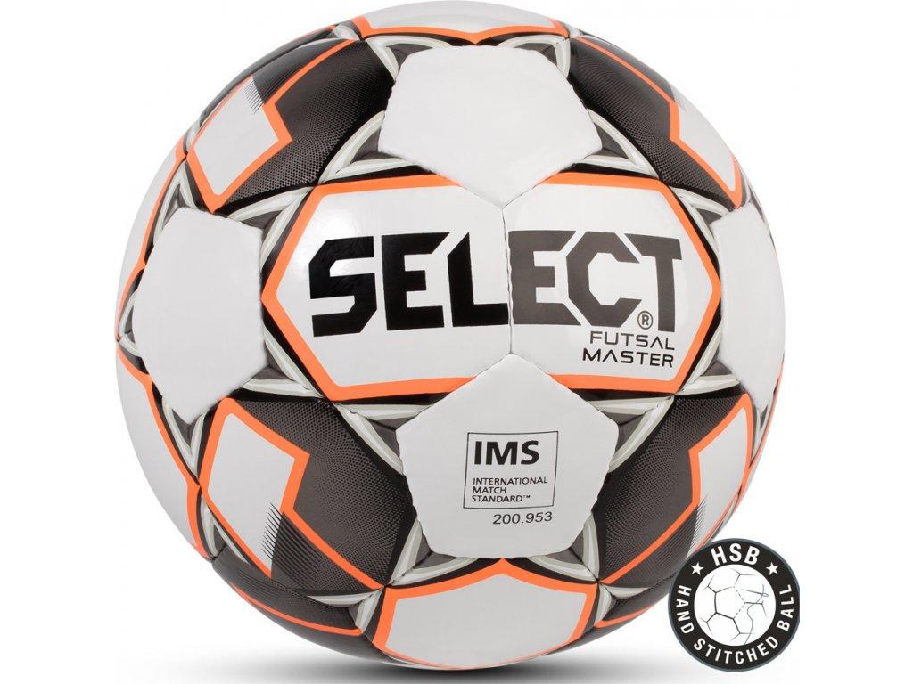 Futbalová lopta Select Futsal Master IMS 2018 Hala bielo-oranžovo-čierna 14258