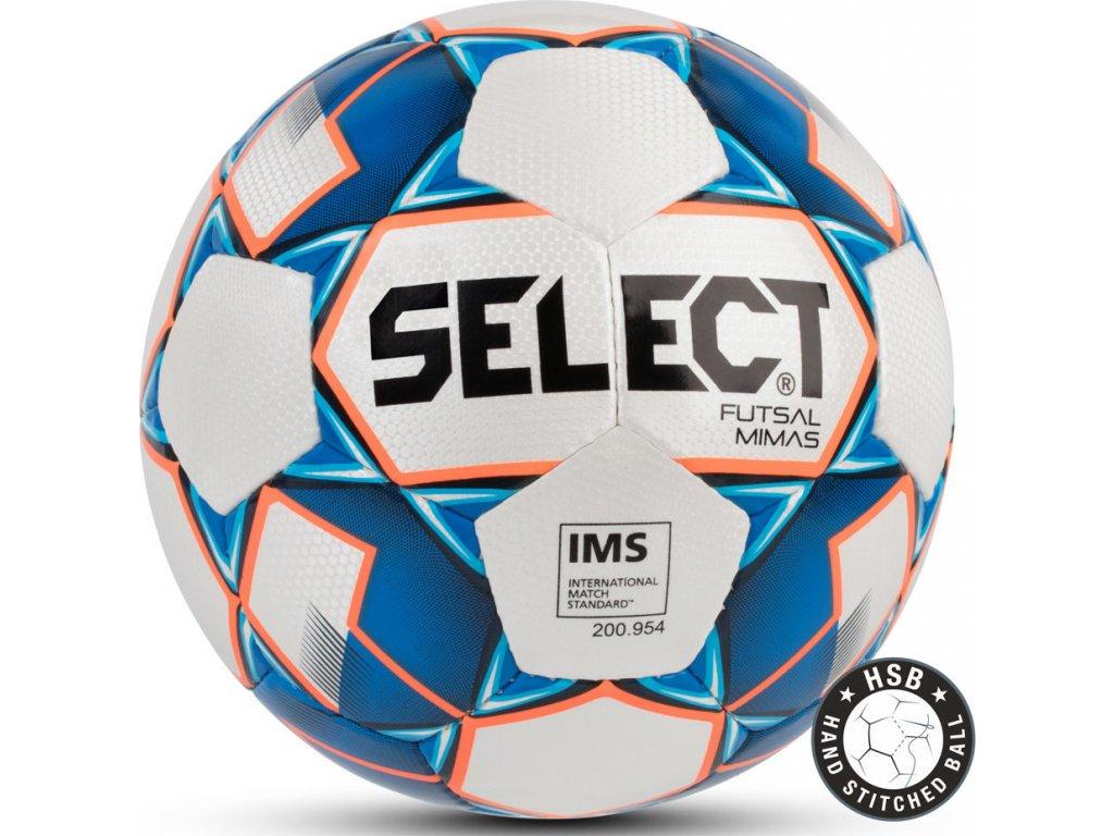 Futbalová lopta Select Futsal Mimas IMS 2018 Hala bielo-modrá 13826