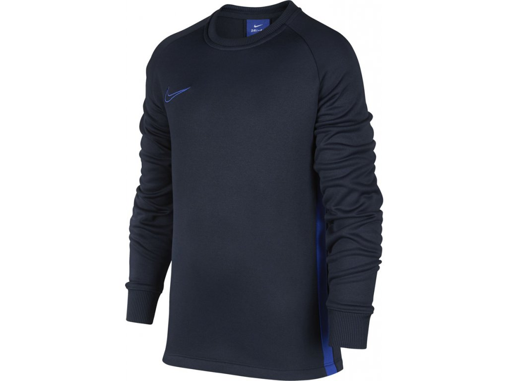 Detský dres Nike Therma Academy Crew Top JR tmavomodrý AO9186 451