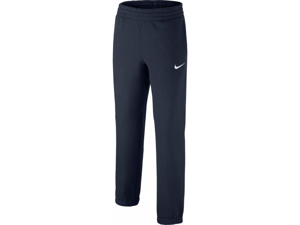 Detské tepláky Nike B N45 Core BF Cuff JUNIOR tmavomodré 619089 451