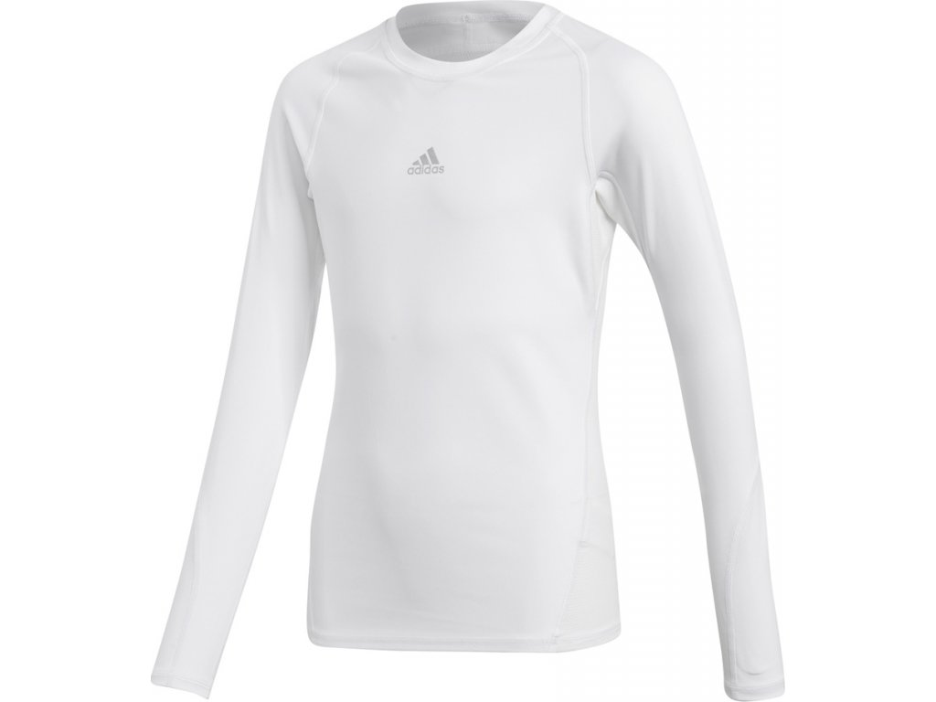 Detský dres adidas Alphaskin Sport LS Tee Junior biely CW7325