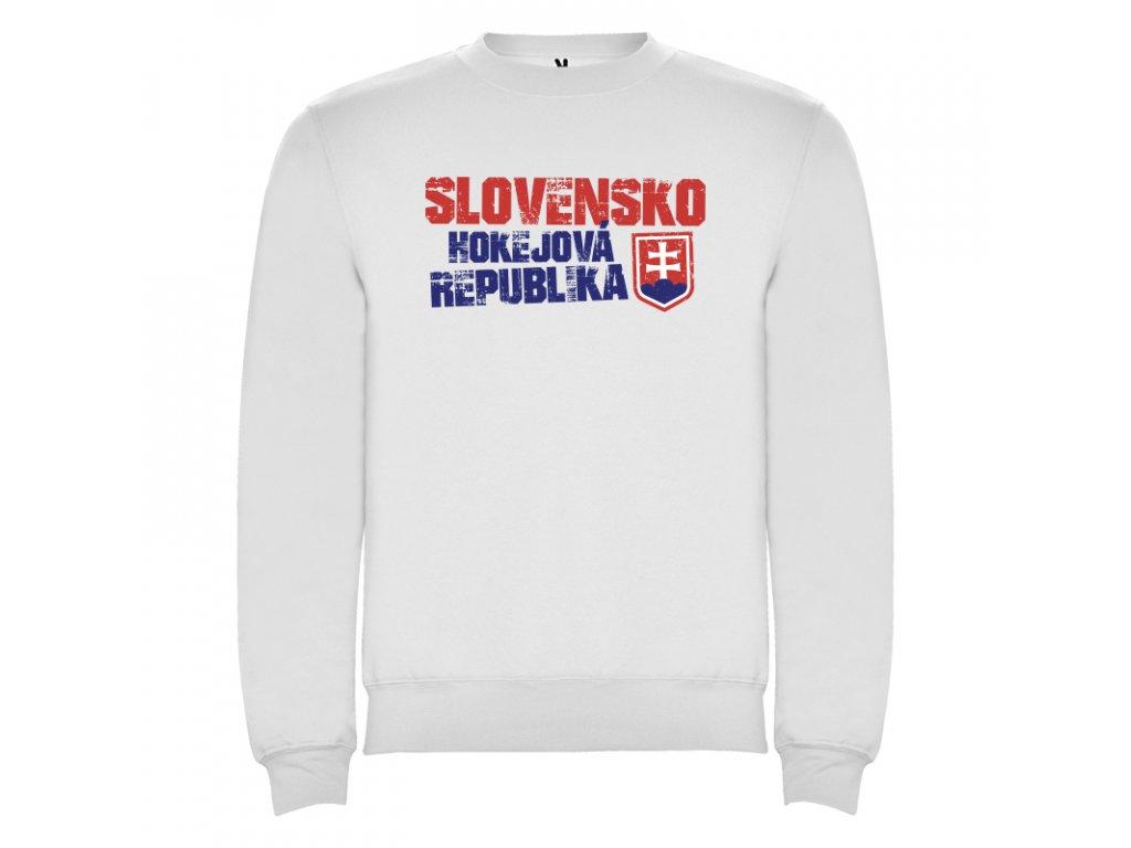 e28e5f6ee6b Mikina Slovensko hokej, biela
