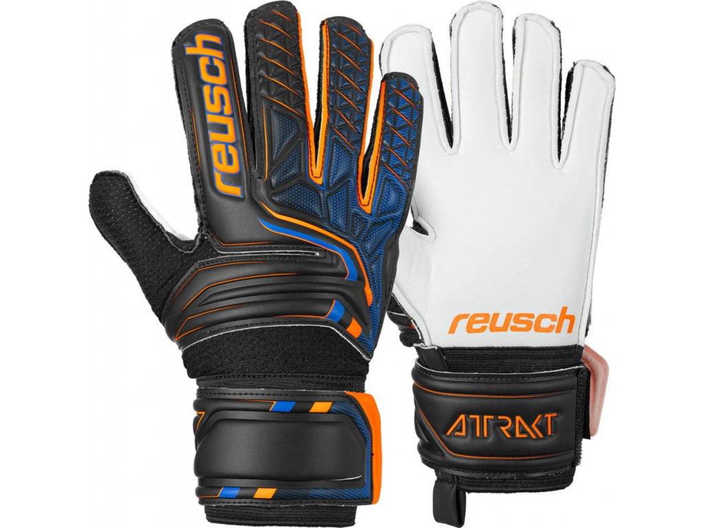 Detské brankárske rukavice Reusch Attrakt SG Junior 5072815 7783
