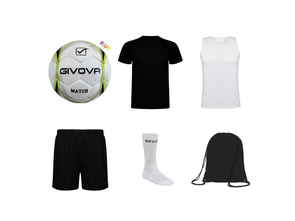 Tréningový box superfutbal summer, 6 kusový, čierna / biela