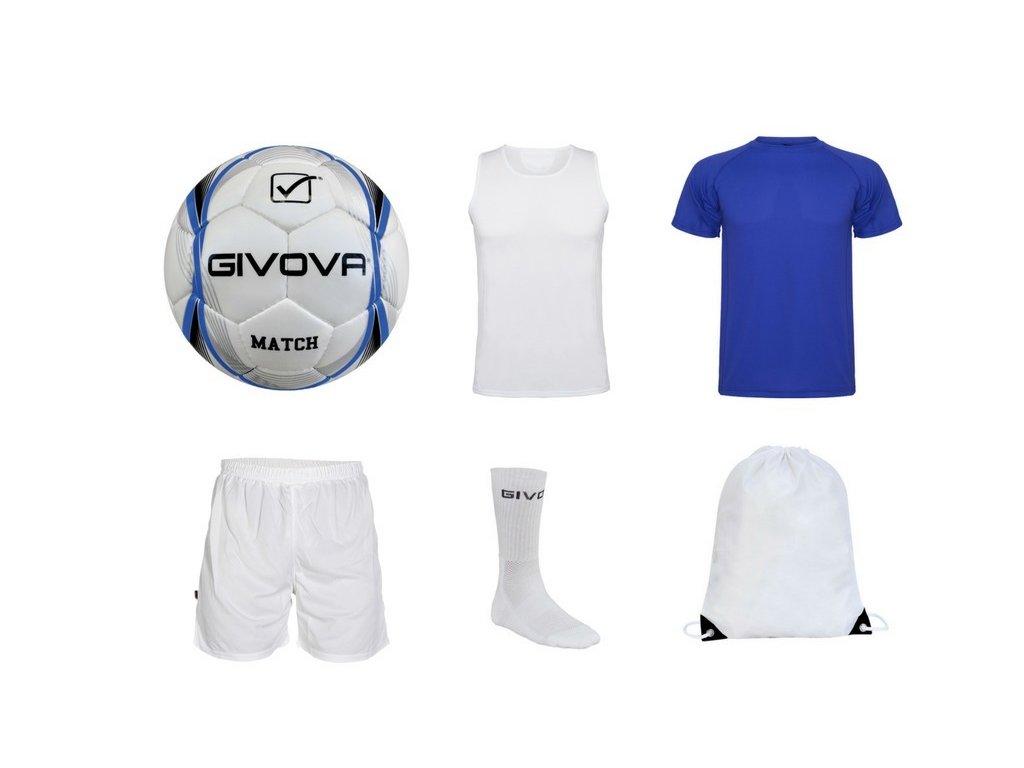Tréningový box superfutbal summer, 6 kusový, kráľovsky modrá / biela