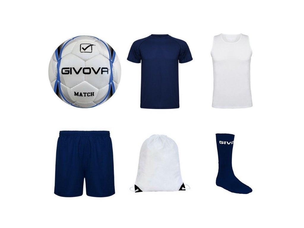 Tréningový box superfutbal summer, 6 kusový, tmavo modrá / biela