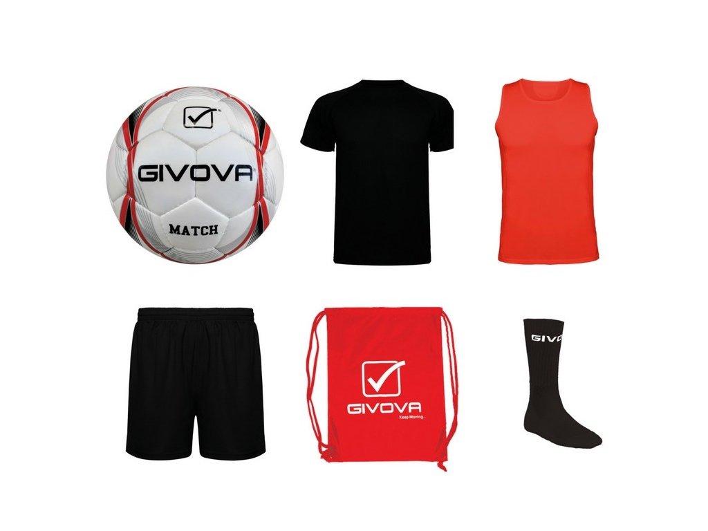 Tréningový box superfutbal summer, 6 kusový, čierna / červená