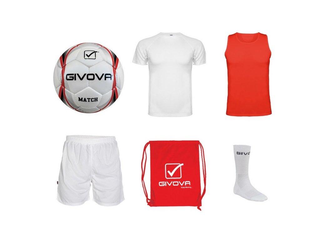 Tréningový box superfutbal summer, 6 kusový, červená / biela