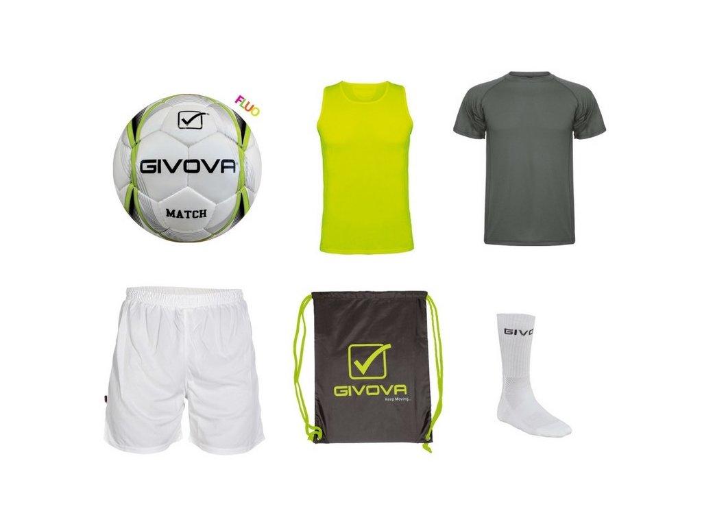 Tréningový box superfutbal summer, 6 kusový, tmavo siva / žltá neónová