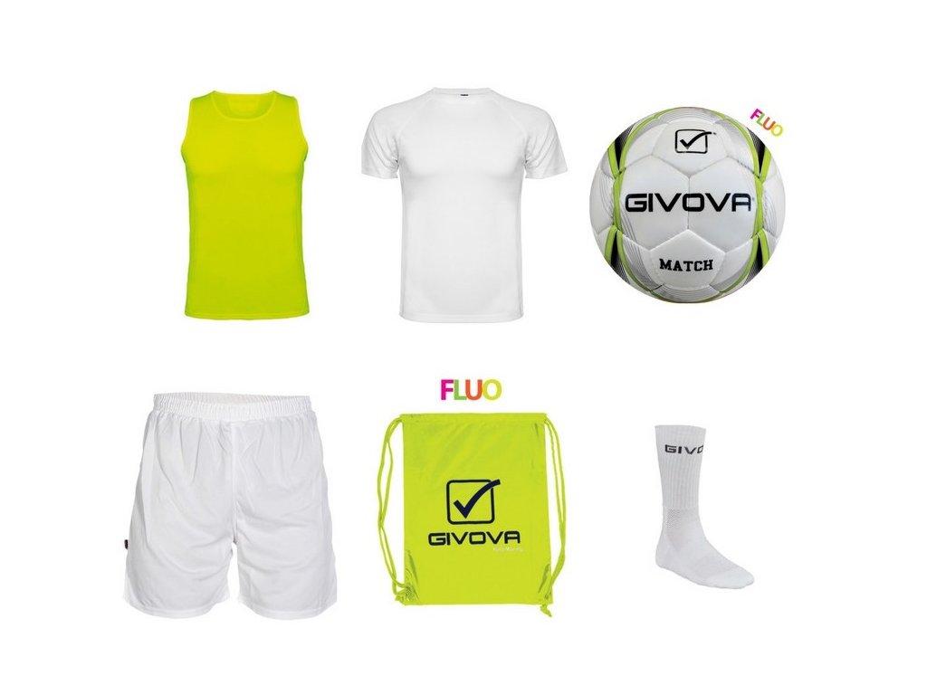 Tréningový box superfutbal summer, 6 kusový, žltá neónová / biela