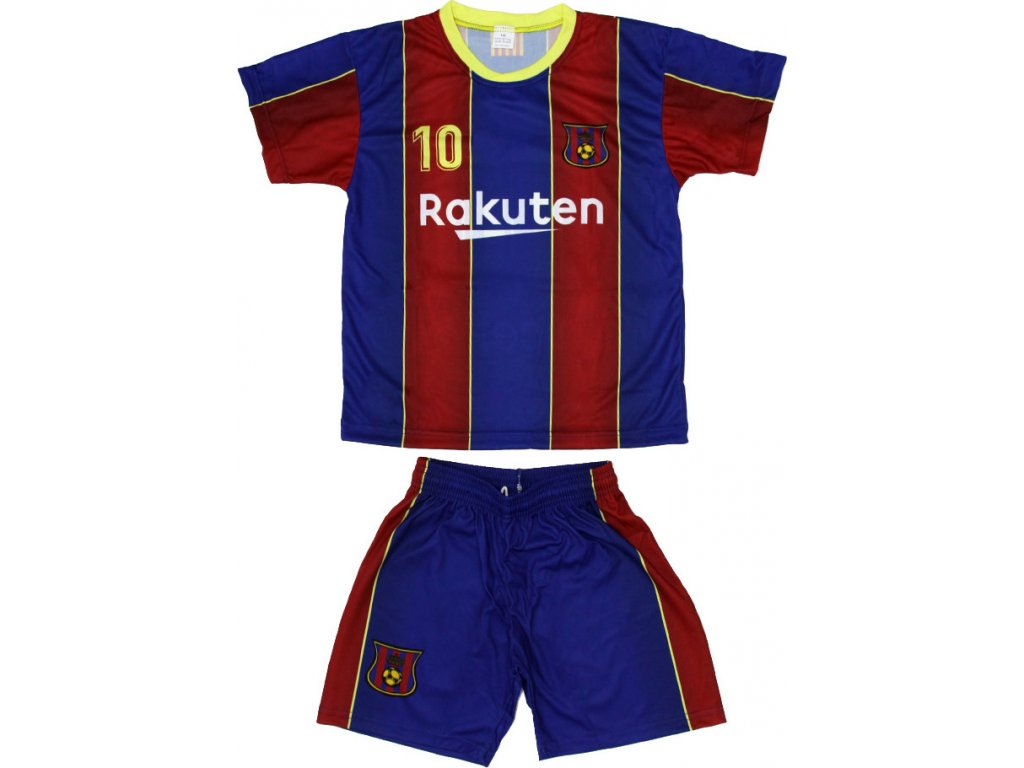 Detský set Replika Messi Barcelona bordová/modrá 2020/21