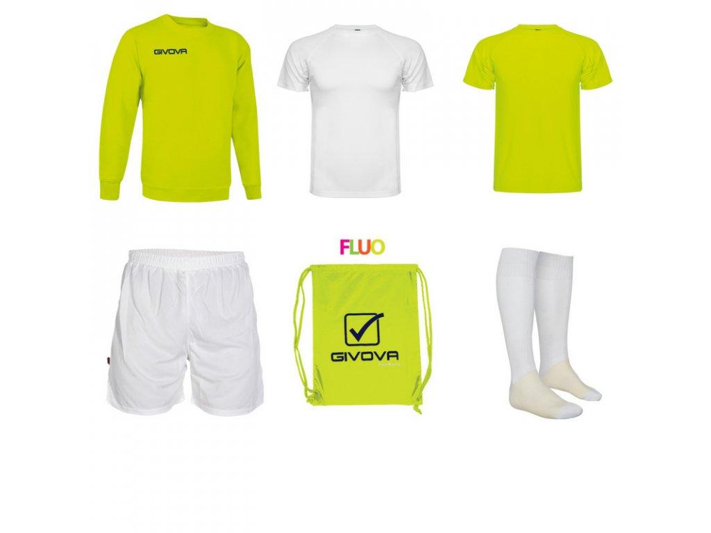 Tréningový box superfutbal spring, 6 kusový, žltá neónová biela farba