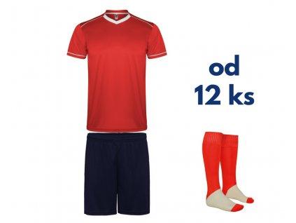Futbalová sada United pre celé mužstvo, od 12 ks, červená / tmavo modrá