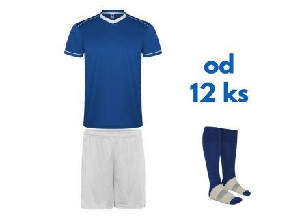 Futbalová sada United pre celé mužstvo, od 12 ks, kráľovsky modrá / biela