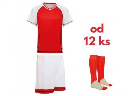Futbalová sada Premier pre celé mužstvo, od 12 ks, červená / biela