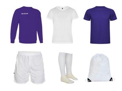 Tréningový box superfutbal spring, 6 kusový, fialová biela farba