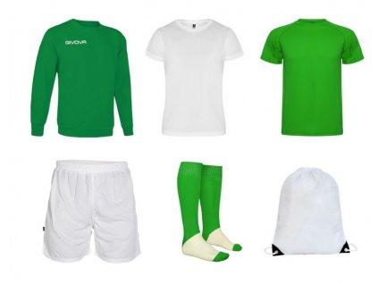 Tréningový box superfutbal spring, 6 kusový, zelená biela farba