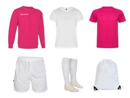 Tréningový box superfutbal spring, 6 kusový, ružová biela farba