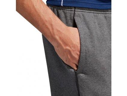 spodnie adidas core 18 sw szary cv3752 przod