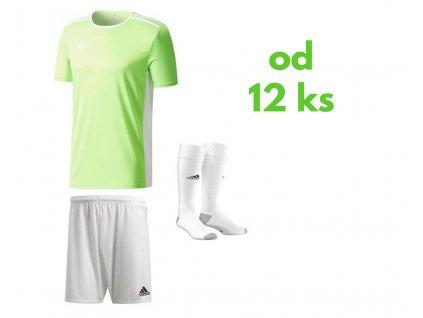 Futbalová sada Adidas Entrada 18 pre celé mužstvo, od 12 ks, jasná zelená