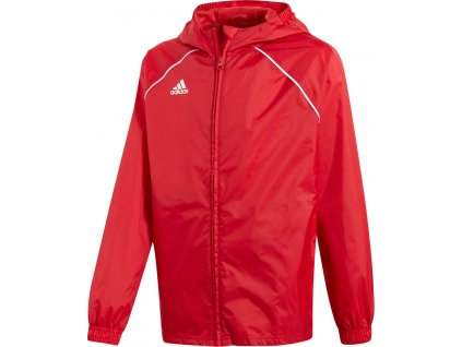 Detská bunda adidas Core 18 Rain JR červená CV3743