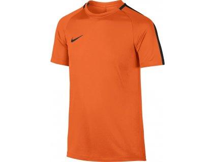 Detský dres Nike NK Dry Top SS Academy JUNIOR oranžový 832969 806