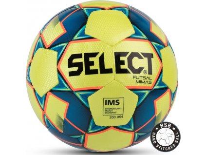 Futbalová lopta Select Futsal Mimas IMS 2018 Hala žlto-modrá 14159