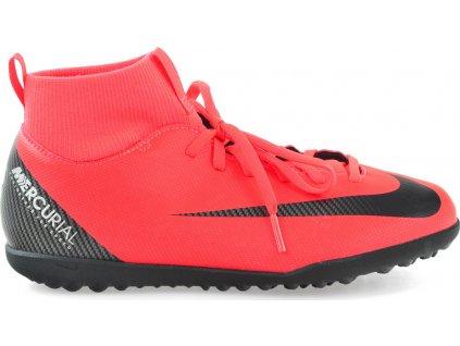 Detské futbalové turfy Nike Mercurial Superfly X 6 Club CR7 TF JR AJ3088 600