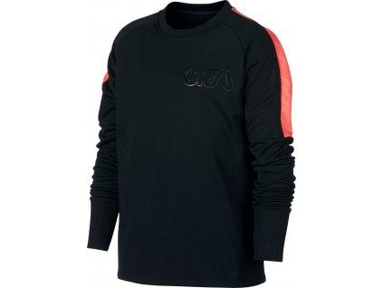 Detské tričko Nike CR7 B Dry Crew Top JUNIOR čierno-červené AA9890 010