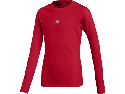 Detský dres adidas Alphaskin Sport LS Tee Junior červený CW7321