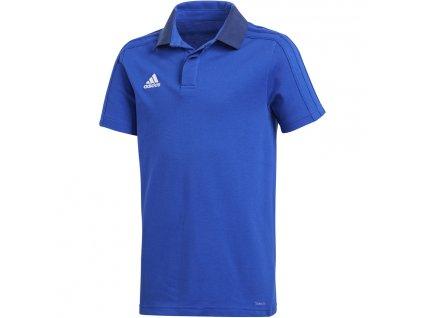 Detská polokošeľa adidas Condivo 18 Cotton Polo JR modrá CF4372