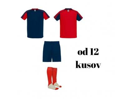 Futbalová sada Juve pre celé mužstvo, od 12 ks, červená / tmavomodrá