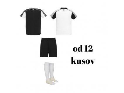 Futbalová sada Juve pre celé mužstvo, od 12 ks, biela / čierna