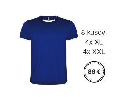 8 ks Futbalový dres Racing, kráľovsky modrá farba