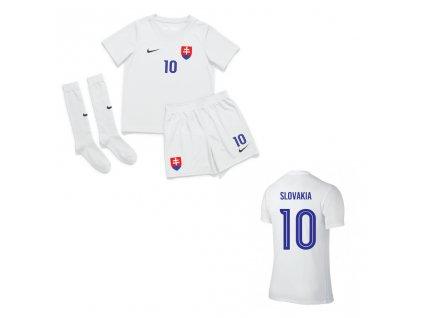 Detský futbalový set SLOVAKIA EURO2020 REPLIKA s potlačou, biela