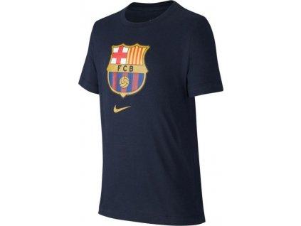 Detské tričko Nike FC Barcelona B NK Tee Evergreen Crest Junior CD3199-475