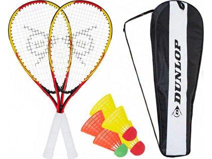 Súprava na speedminton Racketball Set Dunlop žltá / červená 762091