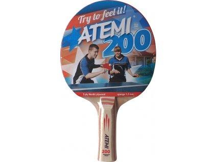 Raketa na stolný tenis New Atemi 200 anatomical